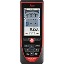 Leica Disto D810 Touchscreen Touch Laser Distance Meter with 4.0 Bluetooth, 650-Feet Range and 1mm Accuracy, Red/Black