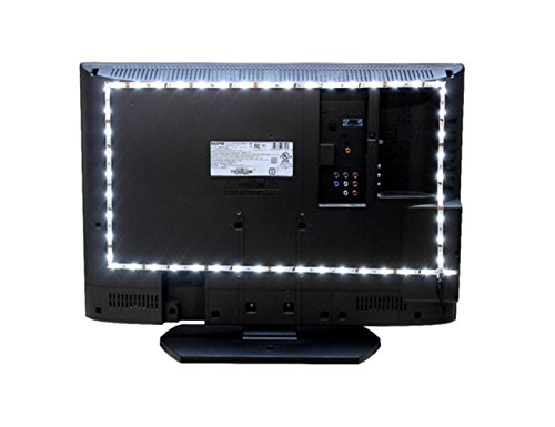 Inspired LED Home Theater | Accent Light Kit | Ambient Light TV LED Backlight | With USB Switch | Mini - 36 inch FLexible LED strip Light | Fits up to 32