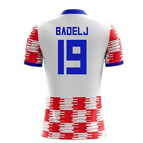 Airosportswear 2018-19 Croatia Home Concept Football Soccer T-Shirt Jersey (Milan Badelj 19)