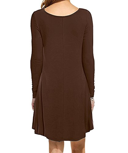Maxi 8coffee Women's Beach I2CRAZY with Loose Ruffle Plain Dresses Pockets Sleeveless Casual 7ywWBqO1