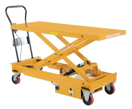 Vestil-CART-1000-LD-DC-DC-Powered-Hydraulic-Elevating-Cart-1000-lb-Capacity-60-x-24-12-Platform