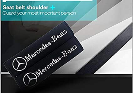 QZS Car Seat Belt Cover 1 Pair//Set Car Seat Belt Shoulder Pads Strap Cover Cushions for Benz Cars