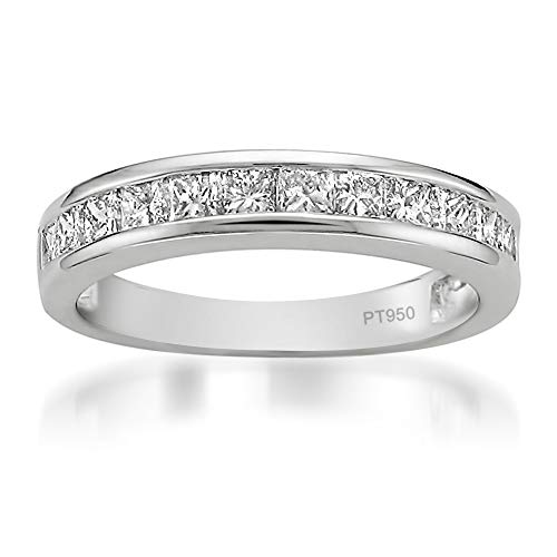 platinum diamond anniversary band - 9