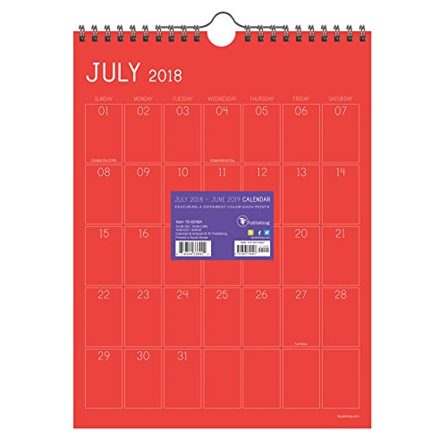 12 Month Appointment Calendar - Color Collection Monthly Grid Appointment 2019 Wall Calendar: July 2018 - June 2019 (Academic Year)