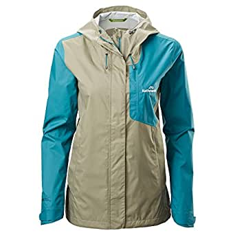 Kathmandu Trailhead Waterproof Highly Breathable Lightweight Women's Rain Jacket High Seas/Clay 10