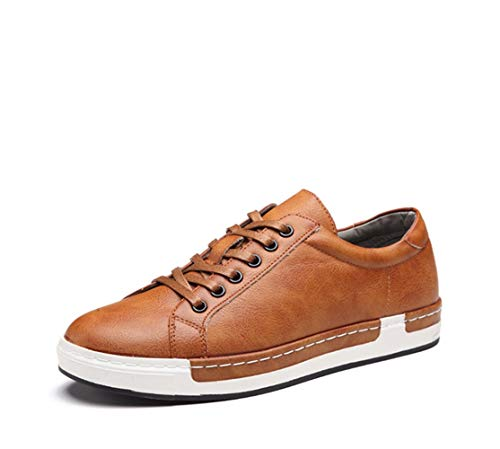 EU moda Dimensione Fuxitoggo traspirante Casual 45 dimensioni Shoes di up for Men Lace Grigio Sneakers Colore Driving Giallo grandi q81Wawzq