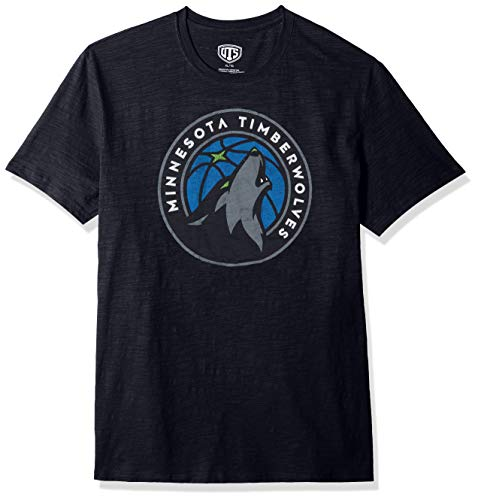 NBA Minnesota Timberwolves Male OTS Slub Distressed Tee, Fall Navy, X-Large