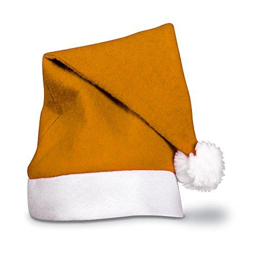 eBuyGB Adults Unisex Festive Christmas Santa Hat (Orange) -