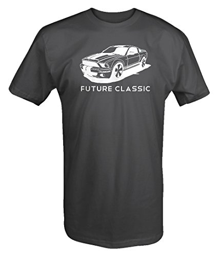 American Muscle Ford Mustang Shelby Cobra GT V8 Racing T Shirt - XLarge Charcoal