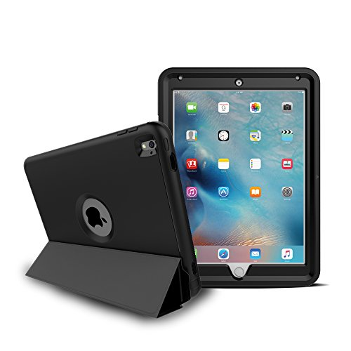 5-Piece Ultimate Protection [Ridgeline Series] Case With Built-In Screen Protector for iPad Pro 9.7