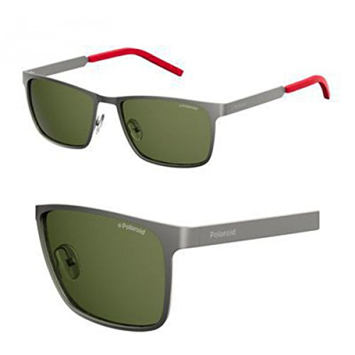 Sunglasses Polaroid Core Pld 2047 /U/S 0R80 Matte Dark Ruthenium / UC green - Sunglasses Pola