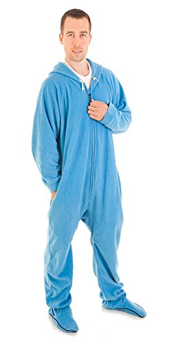 Forever Lazy Footed Adult Onesie - Bum Around Blue - XL]()