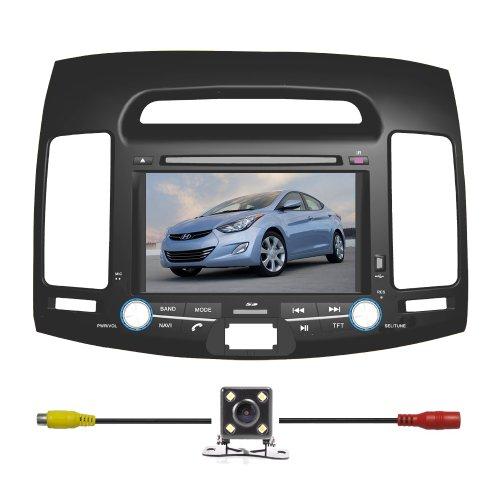 BlueLotus® In-dash 7″ Car DVD Player GPS Navigation for Hyundai Elantra 2007 2008 2009 2010 w/Radio TV Bluetooth RDS USB Av + Reverse Car Rear Camera + Free USA Map For Sale