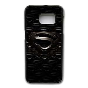 Wunatin Hard Case ,Samsung Galaxy S7 Edge Cell Phone Case Black Superheroes-superman logo [with Free Touch Stylus Pen] BA-0757665