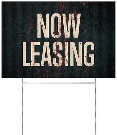 Ghost Aged Rust Double-Sided Weather-Resistant Yard Sign Now Leasing 5-Pack CGSignLab 18x12