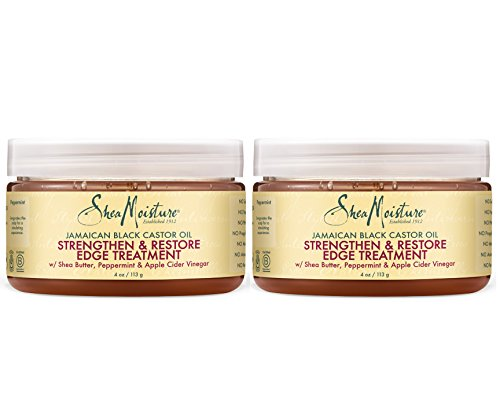 Shea Moisture Jamaican Black Castor Oil Strengthen, Grow & Restore 4 oz. Edge Treatment Value Pack of 2 Each