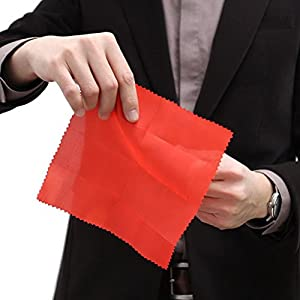 WWahuayuan 1 Set Most Popular Magic Trick Fingers Fake Fingers Soft Thumb Tips Stage Show Prop Prank Toy with Red Silk Training Cloth
