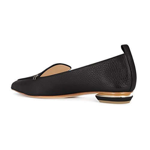 15 Heels Casual Black US Size On Loafers Fashion Pointed Shoes Low 4 Summer Women matte Toe FSJ Slip Pumps Y0qZTwx