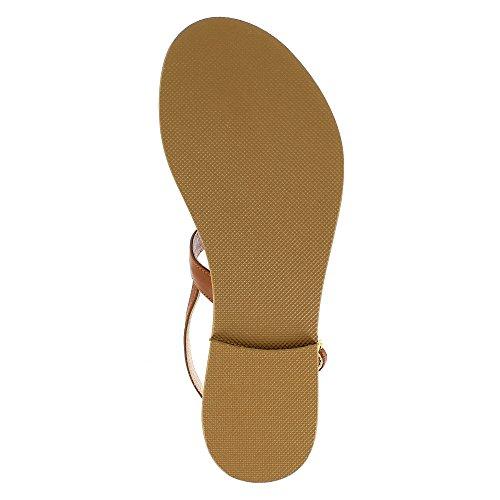 Evita Shoes Greta - Sandalias de vestir de Piel para mujer coñac