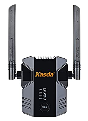 Kasda N300 WiFi Range Extender, Easy Setup Wireless WiFi Repeater, Fast Ethernet Lan Port, WPS, High Performance WiFi Booster for Home / Office (Link Genius / KW5583)
