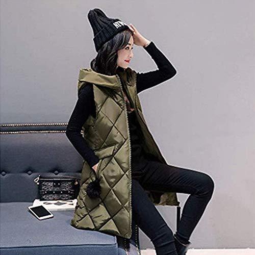 jaune épaule femelle vert grand bas et Vest Slim Long Zzdja xxl manteau hiver Automne qpnx0SP0wA