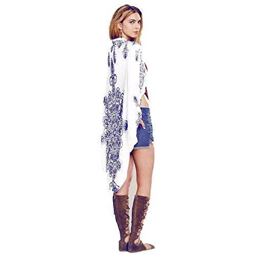 Vogue(ボーグ) ボヘミアン ビーチ 刺繍 リゾート ウェア シフォン パレオ bohemian カラフル チュニック カーディガン カバー