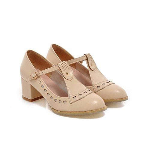 Balamasa Meisjes Gesp Lage Hakken Geruit Zacht Materiaal Pumps-schoenen Abrikoos