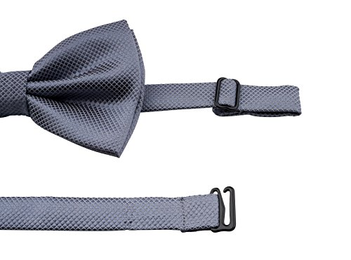 coordinated designer microfibre in pocket made bow Massi square in blue Morino Light Bow square of pocket set box adjustable tie with with bow colour tie gift 7F1x7Z