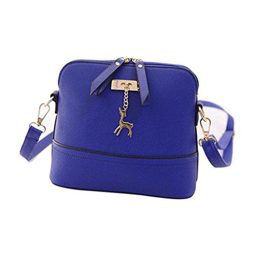 [Laimeng Bag,New Arrival Women Messenger Bags Vintage Small Shell Leather Handbag Casual Bag (Blue)] (Soda Bottle Costumes)