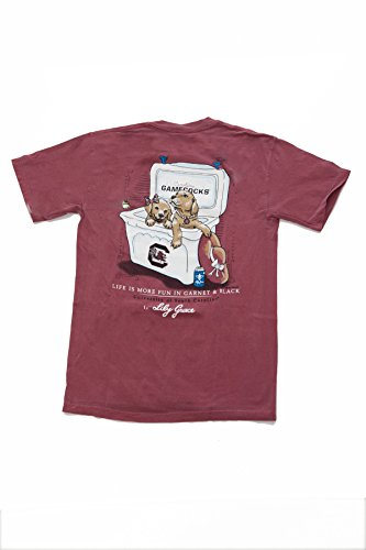 Lily Grace SS Carolina Gamecocks 2 Puppies T-shirt ()