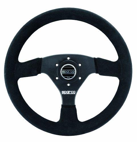 Sparco 015R323PSNR Suede Steering Wheel , Black