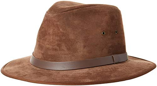 Henschel Genuine Suede Safari with Leather Band, Brown, Large]()