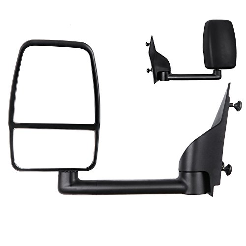 Express Chevy 07 Mirror (ECCPP Textured Tow Manual Left Mirror Driver for 03-11 Chevy Express Savana)