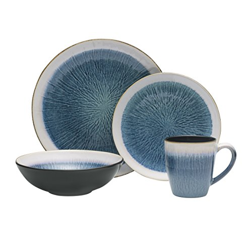 Gourmet Basics by Mikasa Reed 16-Piece Dinnerware Set, Service for 4