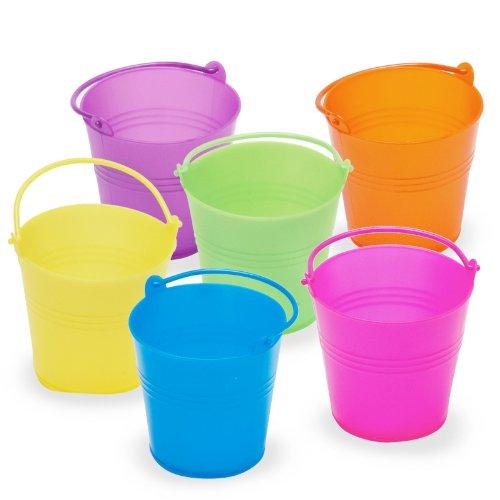 Mini Bright Plastic Easter Pails Party (Bright Pails)