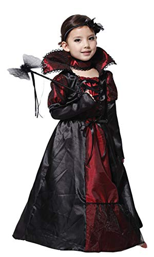 stylesilove Adorable Little Girls Halloween Costume Party Cosplay Dress (XL/10-12 Years, Vampire -