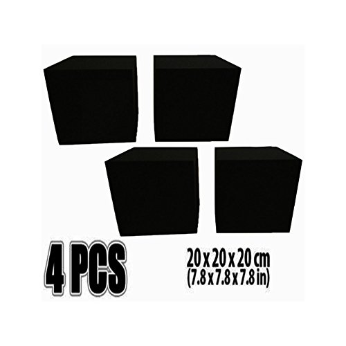 4 pack corner cube block, bass trap, acoustic studio foam/ACE, perforated pyramid, acoustic foam DIY design studio, sound insulation and sound insulation 20 20 20 (Ace Foam)