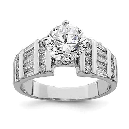 925 Sterling Silver Cubic Zirconia Cz Band Ring Size 6.00 Engagement Wedding Set Fine Jewelry Gifts For Women For Her -