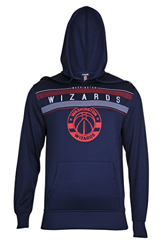 fan products of NBA Men's Washington Wizards Fleece Hoodie Pullover Sweatshirt Poly Midtown, Large, Navy