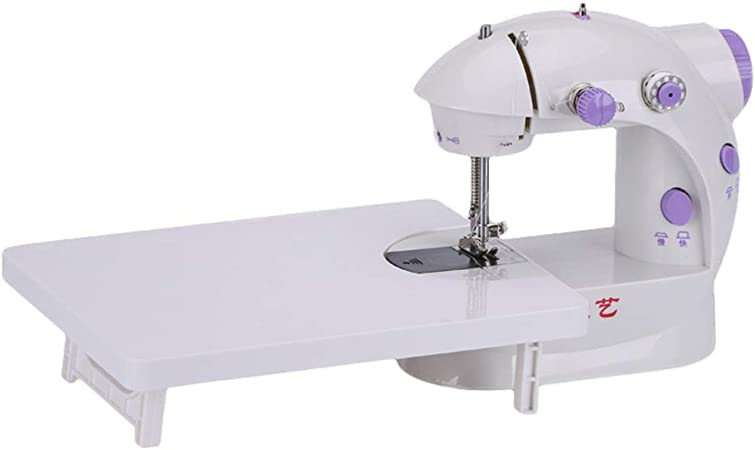 Mini máquina de coser portátil con luz, pedal de velocidad ...