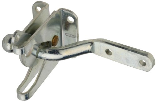Plated Solid Zinc (Stanley Hardware S763-825 CD1261 Automatic Gate Latch in Zinc plated)