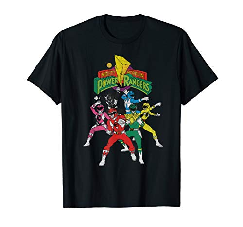 Mighty Morphin Power Rangers Pose All Characters T-Shirt ()