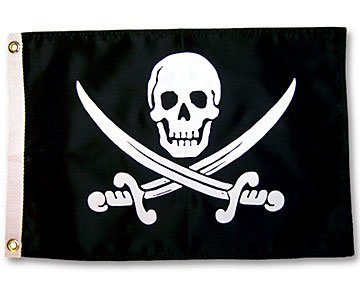 In the Breeze Pirate Jack Rackham Outdoor Garden Flag 12X18in