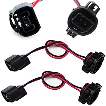 amazon com ijdmtoy (2) 5202 2504 ps24w bulbs female connector  at Ac Delco Wiring Harness 2013 Sierra Fog