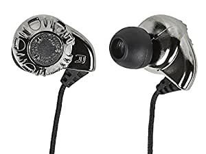 Monoprice 108320 In-Ear Enhanced Bass Hi-Fi Noise Isolating Earphones - Silver