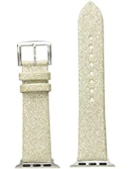 kate spade new york KSS0019 38mm Apple Straps Genuine Leather Gold Watch Strap