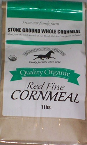 Organic Bloody Butcher (Red) Cornmeal, Fresh Stone Ground, Farmer Direct, non-GMO 1 lb.