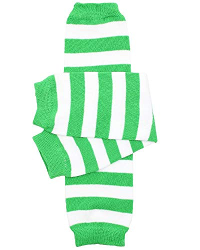 juDanzy baby girls and toddler Green & White Stripe leg warmers Green & White One Size 12 inches