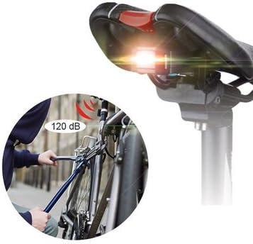 Faros traseros para bicicleta – A4 3 en 1 – alarma antirrobo ...