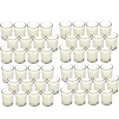 Hosley 48 Pack Warm White Unscented Clea...